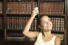 Free Student With Light Bulb - Horizontal Royalty Free Stock Photo - 6213625