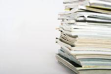 Free Stack Of Magazines Stock Photo - 6214740