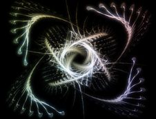 Abstract Bright Fractal Design Stock Photography