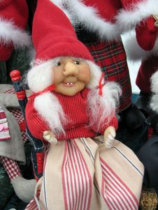 Free Christmas Doll Figurine Of Grandmother Stock Photos - 6215173