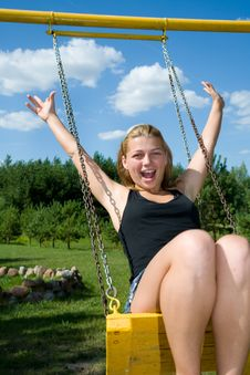 Free The Girl On A Seesaw Royalty Free Stock Photos - 6215608