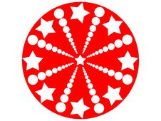Stars Round Royalty Free Stock Image