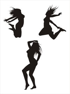 Free Three Silhouetes Royalty Free Stock Images - 6215819