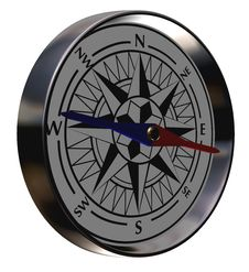 Free Crome Compass Royalty Free Stock Images - 6215839