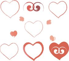 Free Different Hearts Royalty Free Stock Photos - 6216478