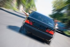 Free The Black Car In Acceleration Royalty Free Stock Photo - 6216855