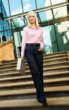Free Beautiful Business Woman Stock Photography - 6217062