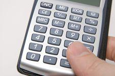 Free Finger On Calculator Stock Image - 6217291