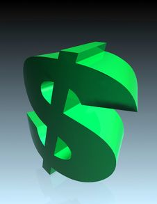Twisted Dollar Sign Stock Photography