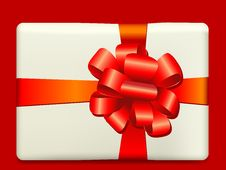 Free Christmas Present Box With A Bow Royalty Free Stock Photography - 6217707