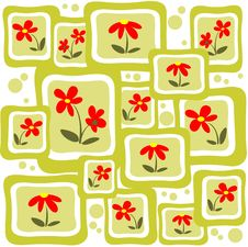 Free Red Flowers Pattern Royalty Free Stock Photos - 6217808