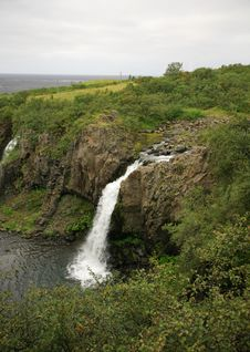 Free View Of Magnustafoss Waterfall Stock Image - 6217891
