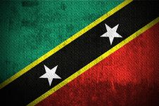 Grunge Flag Of Saint Kitts And Nevis Stock Images