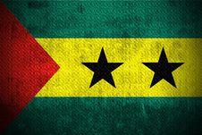 Grunge Flag Of Sao Tome And Principe Royalty Free Stock Photo