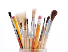 Free Pencils And Brushes Royalty Free Stock Photos - 6218138