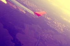 Free Airplane And Sunset Royalty Free Stock Photos - 6218268