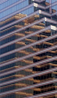 Free Brown Striped Reflective Building Stock Images - 6218474