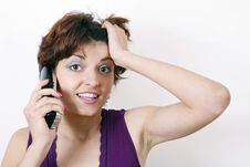 Free Girl Talking Over Phone Stock Photography - 6218902