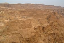 Free View On Old Roman Encampment At Masada Stock Photo - 6219110
