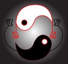 Free Yin Yang Smile Stock Image - 6219461