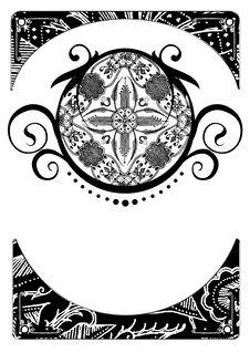 Pattern And Border Of Batik Royalty Free Stock Photo