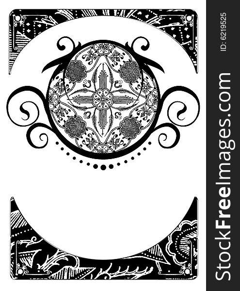 Pattern and border of batik