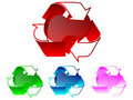 Free 3d Recycle Heart Illustration Royalty Free Stock Images - 6220139