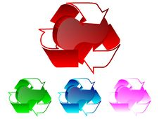 3d Recycle Heart Illustration Royalty Free Stock Images
