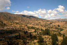 Andean Village Stock Photo