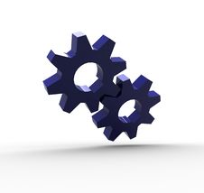 Free Blue Gears Royalty Free Stock Image - 6220286