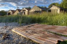Old Boat Houses Royalty Free Stock Photography