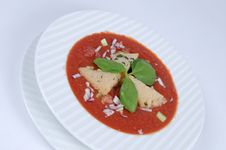 Free Gazpacho With Croutons Stock Image - 6221981