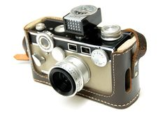 Free Two Tone Vintage Film Camera Isolated On White Royalty Free Stock Images - 6222129
