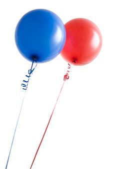 Free Red And Blue Balloons Royalty Free Stock Image - 6222776