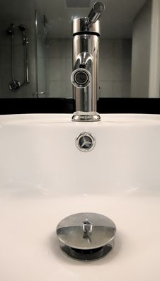 Bathroom Sink Royalty Free Stock Photo