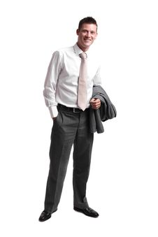 Young Businessman After Work Stock Photo