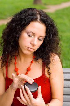 Free Beautiful Woman With Mirror Stock Photo - 6224440