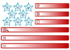American Flag Buttons Stock Images