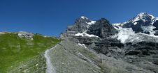 Eiger Panorama In Switzerland Royalty Free Stock Photos