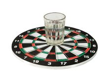 Free Glass Of Water On A Dartboard Royalty Free Stock Photos - 6225898