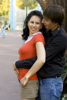 Free Couple In The Park Stock Photos - 6225963