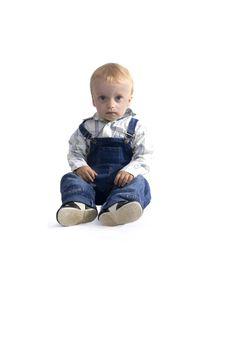 Free Sitting Boy Royalty Free Stock Image - 6226106