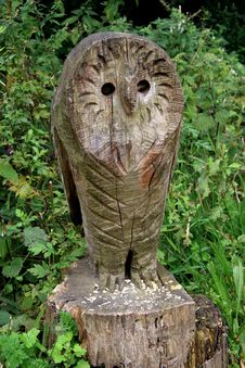 Wood Carving Of Owl