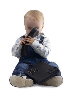 Free Boy And Phone Stock Photo - 6226190