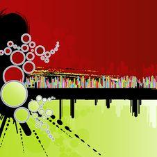 Free Rainbow Columns Grunge Background Royalty Free Stock Photography - 6226917