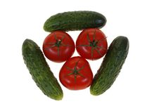 Free Tomatoes And Cucumbers Stock Image - 6227961