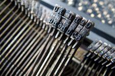 Free Old Typewriter Stock Photography - 6228662