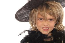 Free Young Child In A Wig & Hat Stock Photography - 6228832