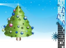 Free Christmas Tree With Ornaments Stock Images - 6229094