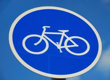 Free Bicycle Road Sign Stock Photos - 6229343